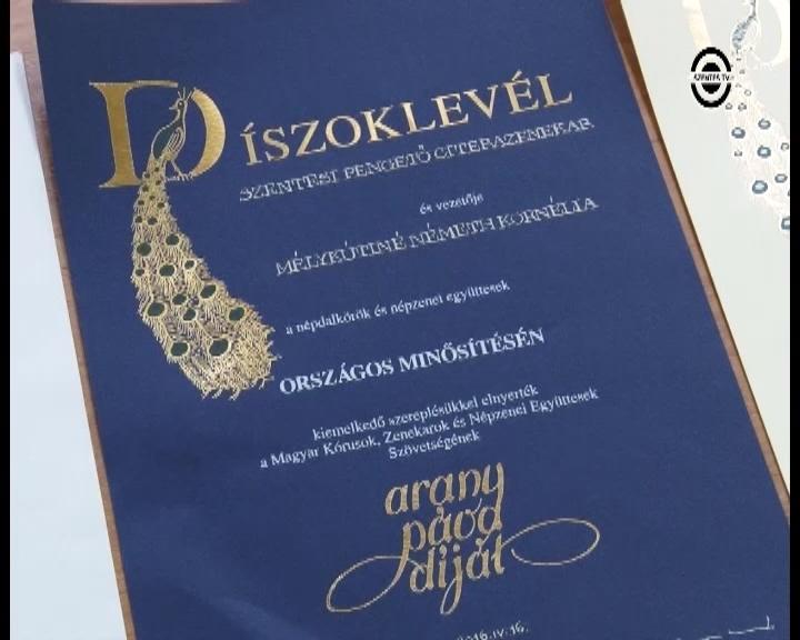 Újabb Arany Páva nagydíjat kapott a Pengető Citerazenekar